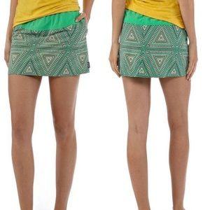 Patagonia baggies skirt pockets drawstring green